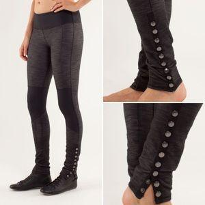 Lululemon Cross Town Legging Pant Black Slub Denim